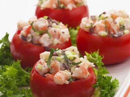 Рецепт помидоры с креветками