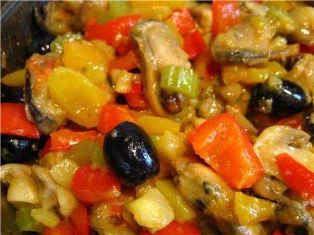 Рецепт рагу с мидиями