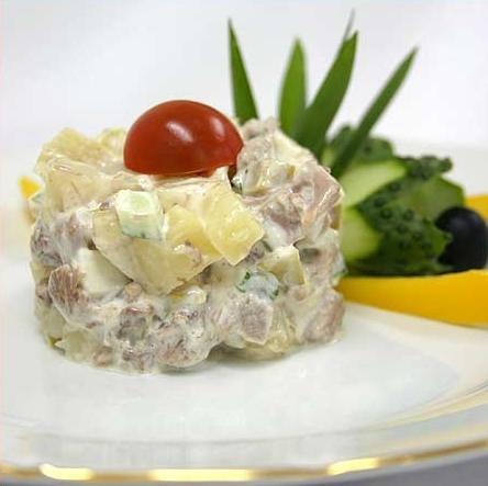Рецепт салат с грибами и дичью