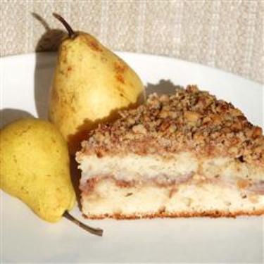 Грушевый пирог с орехами